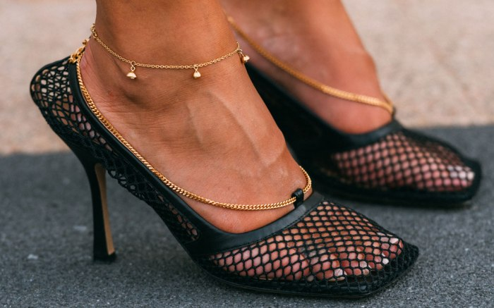 Bottega Veneta, mesh pumps, Milan fashion week, street style