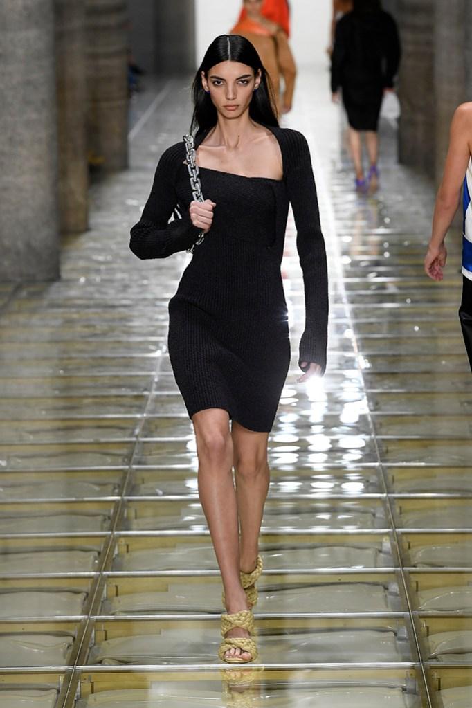 Model on the catwalkBottega Veneta show, Runway, Spring Summer 2020, Milan Fashion Week, Italy - 19 Sep 2019