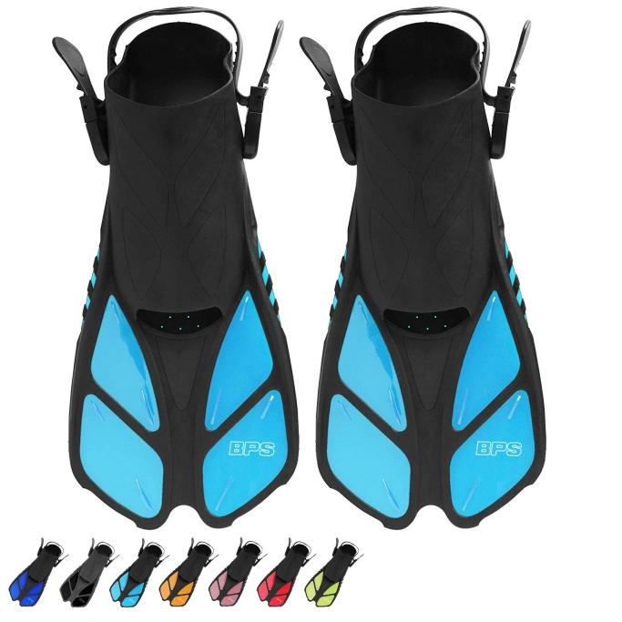 BPS Short-Blade Adjustable Swim Flippers