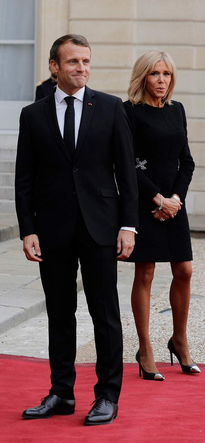 louis vuitton merry go round pumps, Former French President Francois Hollande, left, current French President Emmanuel Macron and his wife Brigitte Macron pose at the Elysee Palace after a service at Saint Sulpice church for late French President Jacques Chirac, in Paris. Former French President Jacques Chirac was given full military honors on Monday as past and current world leaders gathered in Paris to attend his final serviceChirac, Paris, France - 30 Sep 2019
