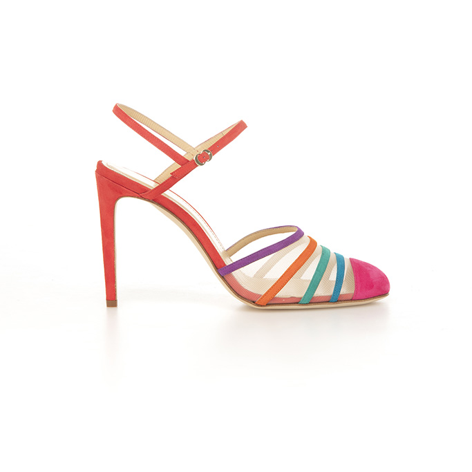 chloe gosselin, spring 2020, rainbow sandal, shoes