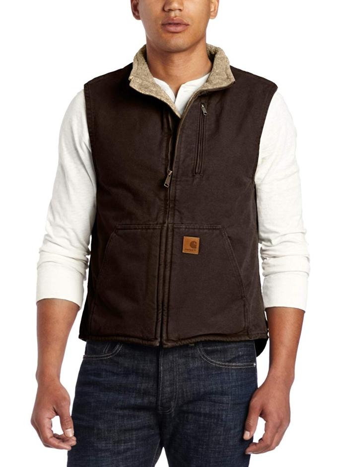 carhartt mock neck sherpa lined vest