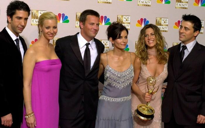 David Schwimmer, Lisa Kudrow, Matthew Perry, Courteney Cox Arquette, Jennifer Aniston, Matt LeBlanc, friends, emmy awards