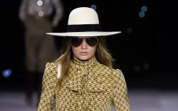 Model on the catwalk, Celine show,