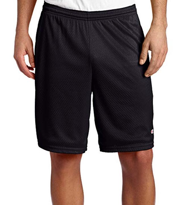 champion shorts, mesh shorts, running shorts, mens