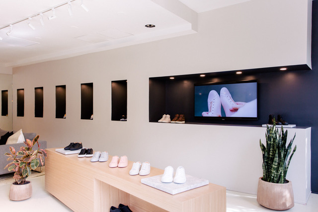 Inside of Koio Chicago store that was set up by Leap