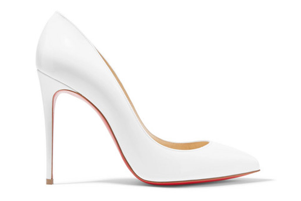 Christian Louboutin, pigalle follies, white pumps, stilettos,