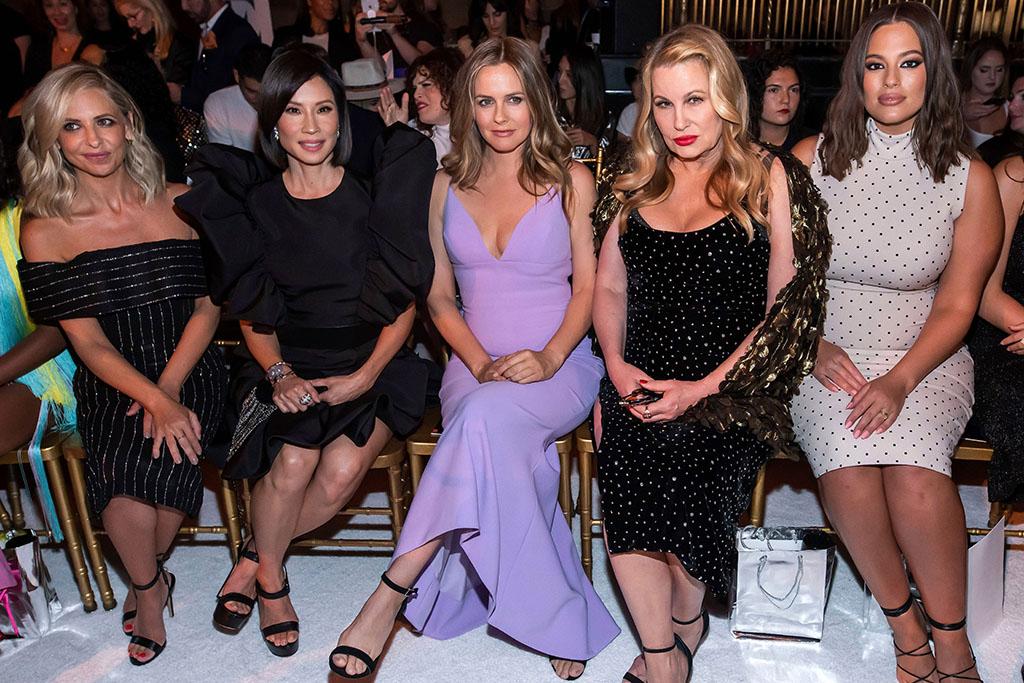 Christian Siriano, front row, spring 2020, Sarah Michelle Gellar, Lucy Liu, Alicia Silverstone, Jennifer Coolidge, Ashley Graham