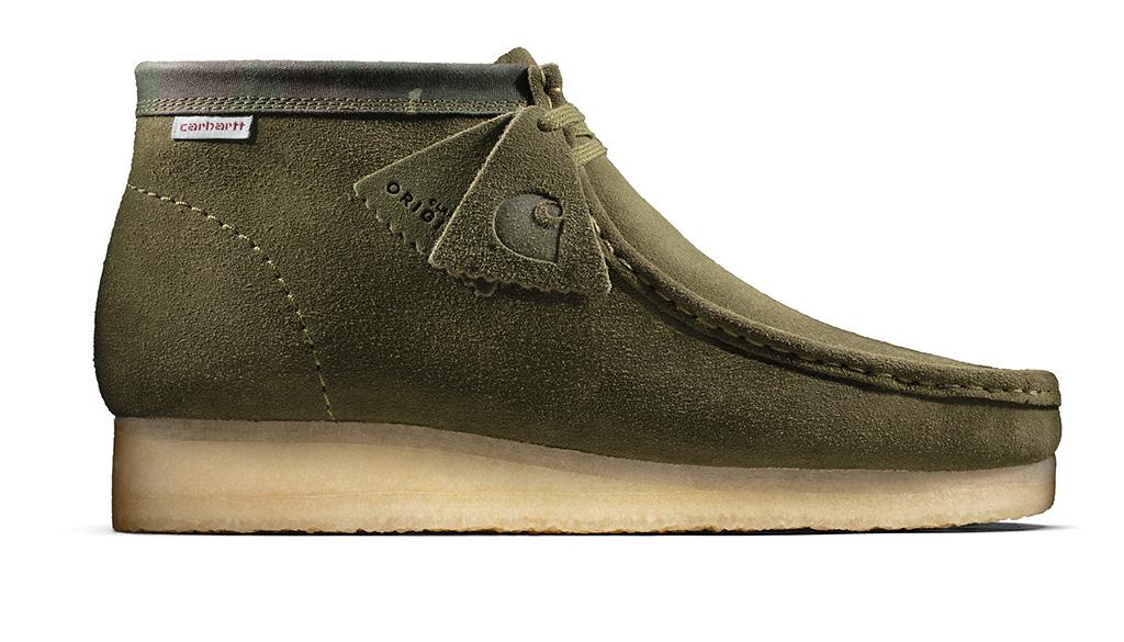 clarks originals, carhartt, sneakers, shoes, green