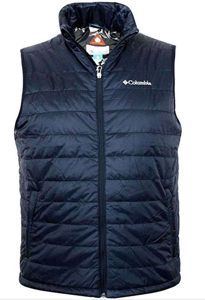 columbia mens vest, down vest, puffer, , Crested Butte II Omni Heat Puffer Vest 2017