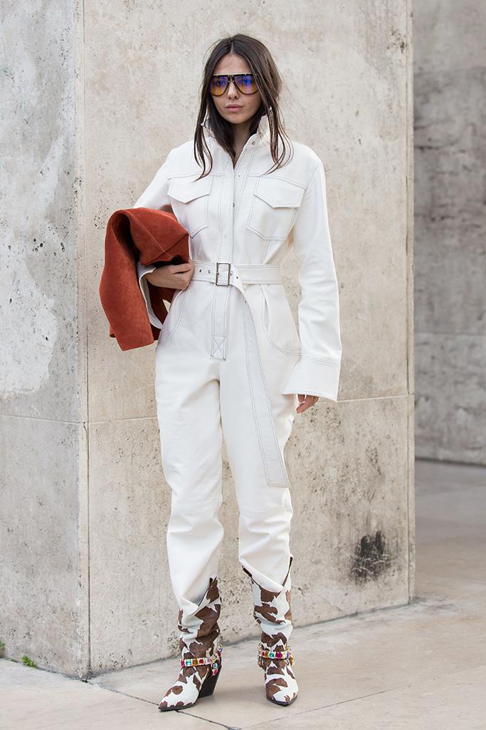 Street style, Spring Summer 2019, Paris Fashion Week, France - 28 Sep 2018