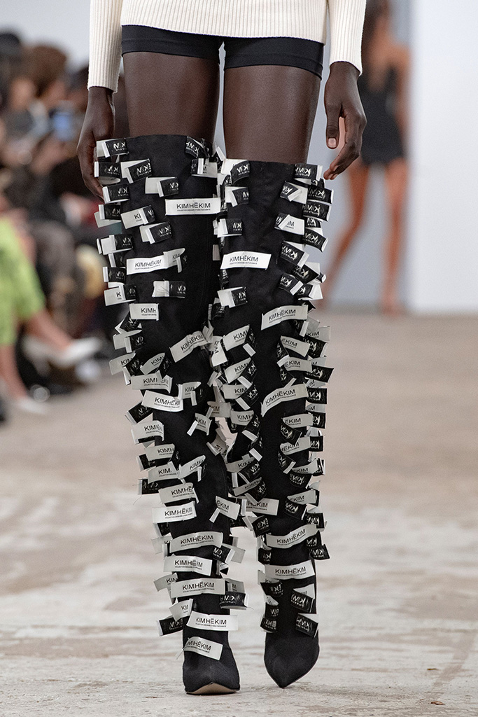 craziest shoes at pfw, ss20, kimhekim