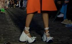 craziest shoes at pfw, ss20, courreges