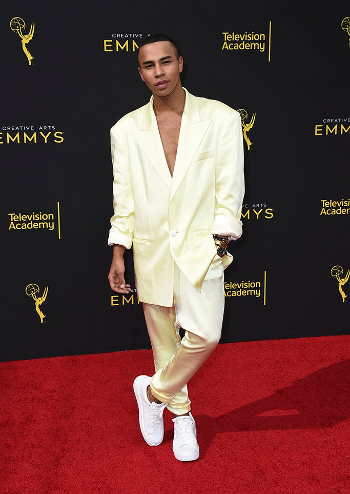 Olivier Rousteing arrives at night one of the Television Academy's 2019 Creative Arts Emmy Awards, at the Microsoft Theater in Los AngelesTelevision Academy's 2019 Creative Arts Emmy Awards - Arrivals - Night One, Los Angeles, USA - 14 Sep 2019