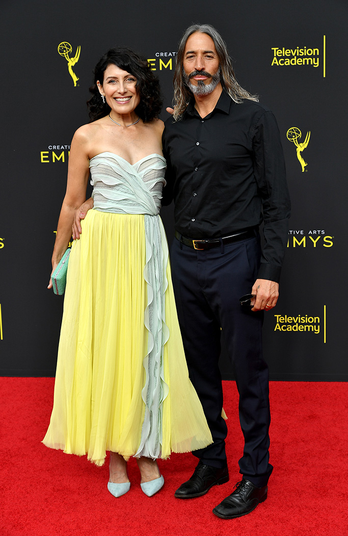 Lisa Edelstein and Robert Russell71st Annual Primetime Creative Arts Emmy Awards, Day 2, Arrivals, Microsoft Theater, Los Angeles, USA - 15 Sep 2019