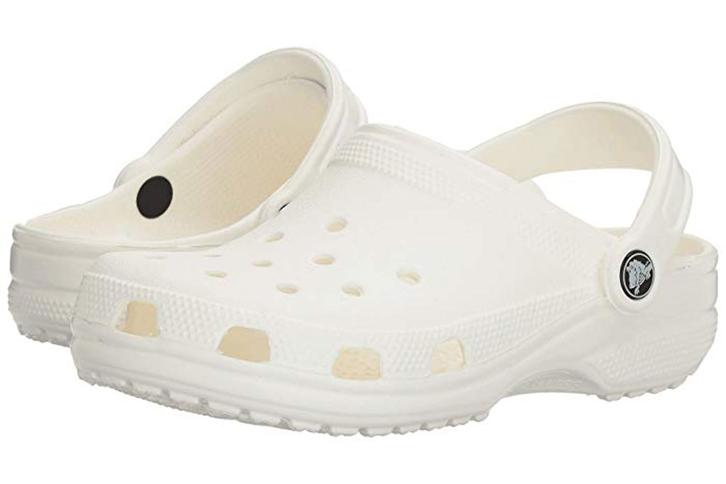 White rubber clogs from Crocs