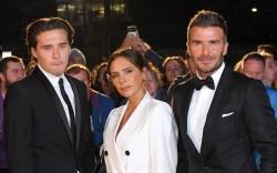 Brooklyn Beckham, Victoria Beckham and David