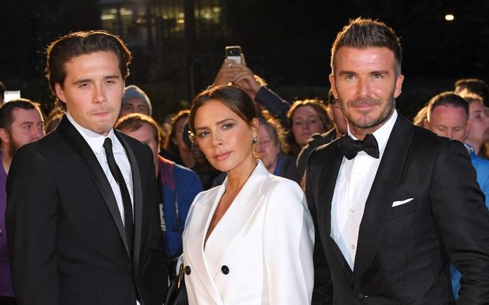 Brooklyn Beckham, Victoria Beckham and David BeckhamGQ Men of the Year Awards, Arrivals, Tate Modern, London, UK - 03 Sep 2019