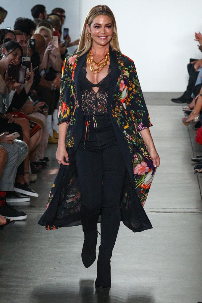Denise Richards, Femmes Sans Peur, real housnyfw, kyle Richards , Shahida Parides, kyle and sharida, New York fashion week , runway