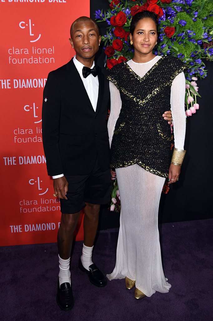 Pharrell Williams and Helen Lasichanh5th Annual Clara Lionel Foundation Diamond Ball, Arrivals, Cipriani Wall Street, New York, USA - 12 Sep 2019