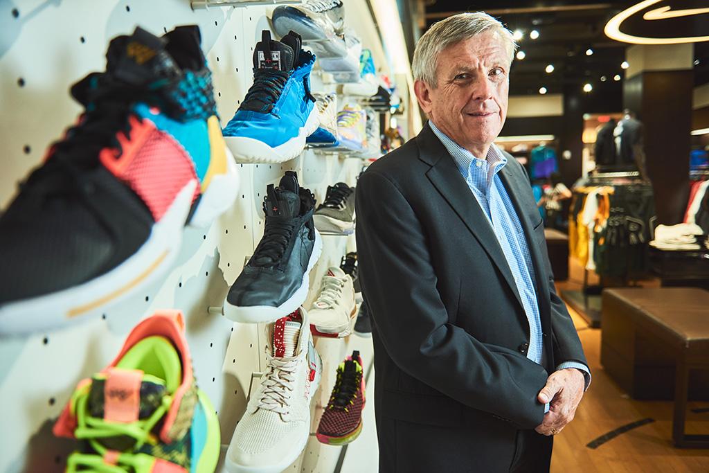 Foot Locker president and CEO Dick Johnson