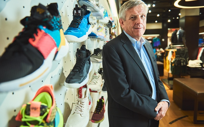 Foot Locker president and CEO Dick Johnson