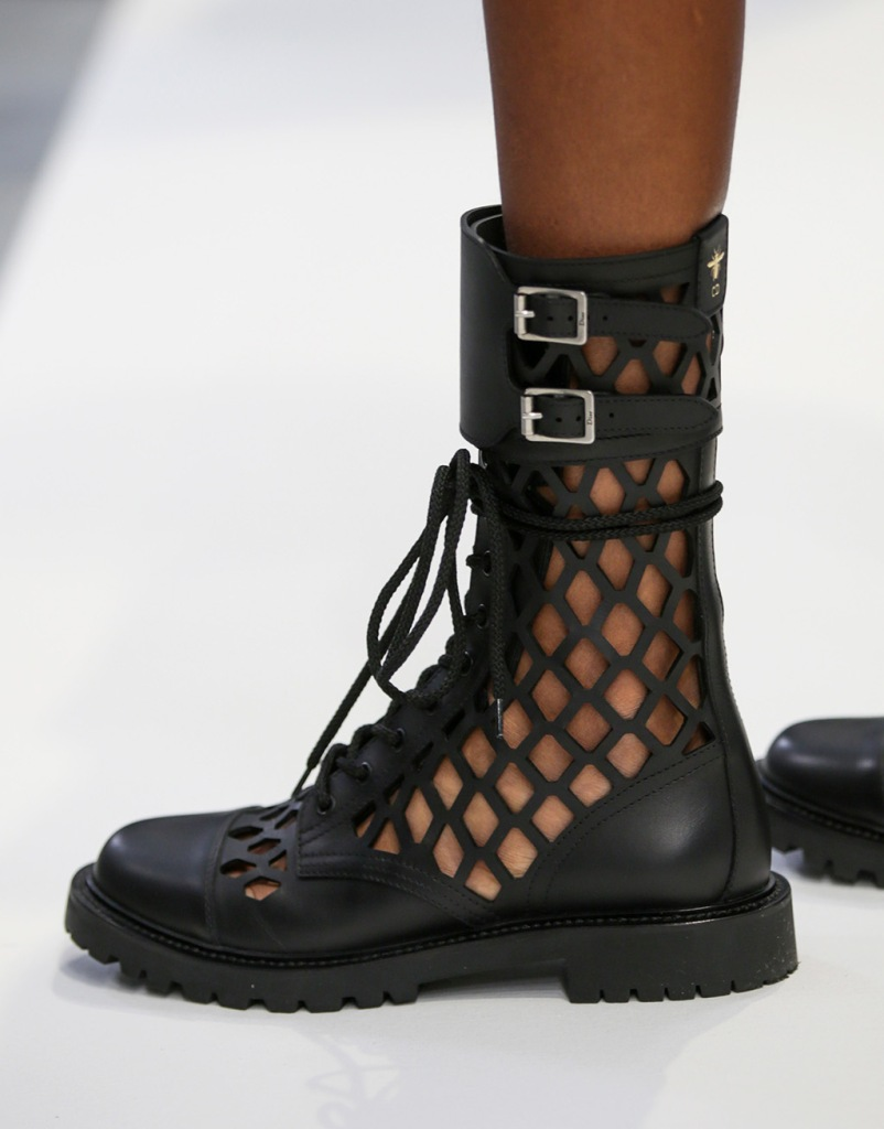 Model backstage, shoe detailDior show, Backstage, Spring Summer 2020, Paris Fashion Week, France - 24 Sep 2019