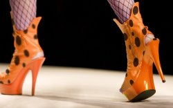 Cheetos, platform shoes, runway, New York