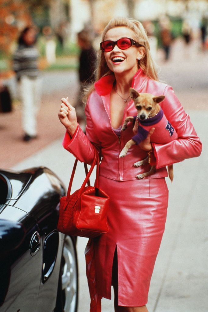 elle, woods, legally, blonde, reese, witherspoon, hot, pink, trend, spring, 2020