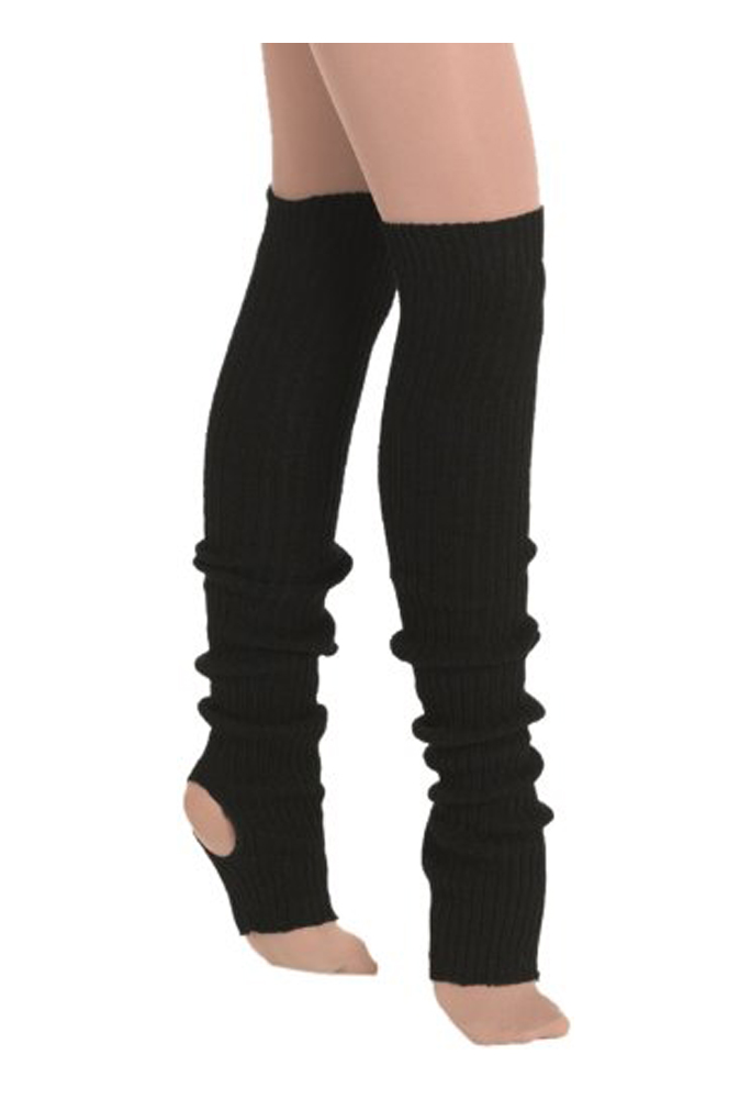 eurotard, leg warmers, black