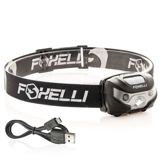Foxelli USB Rechargeable Headlamp