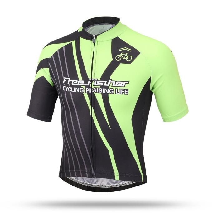 free fisher cycling jersey, kids cycling shirt, childrens bike shirts