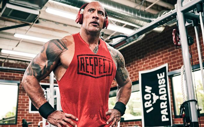 Dwayne Johnson, the rock, project rock, under armour, gym