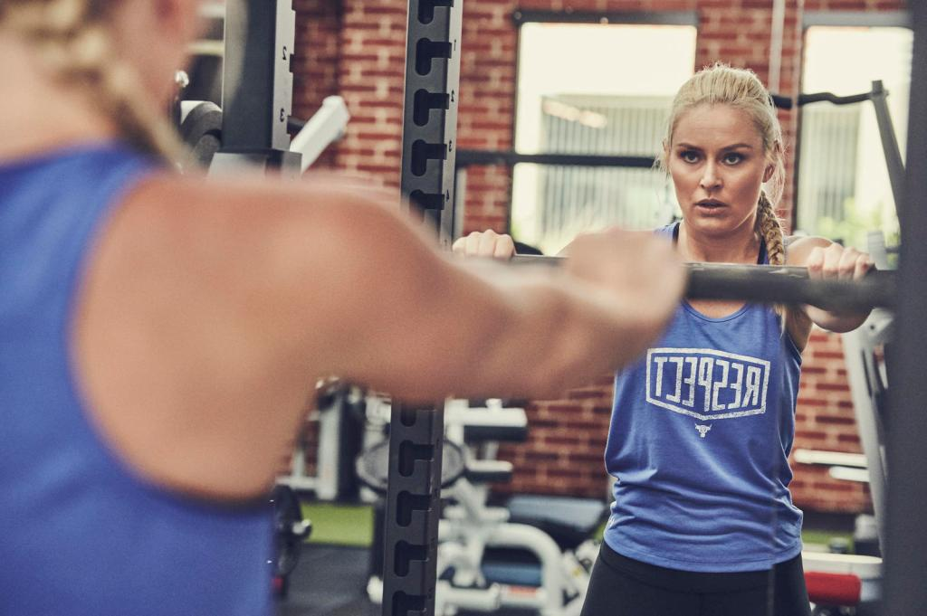 Lindsey Vonn, project rock, the rock, Dwayne Johnson, under armour, iron paradise