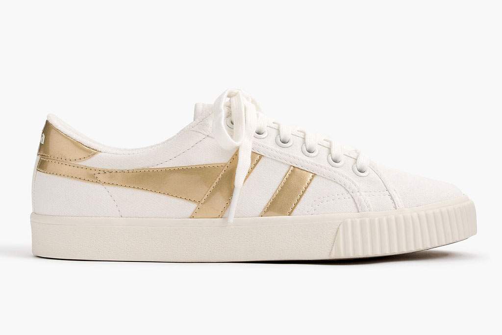 Gola for J.Crew, sneakers, gold detail