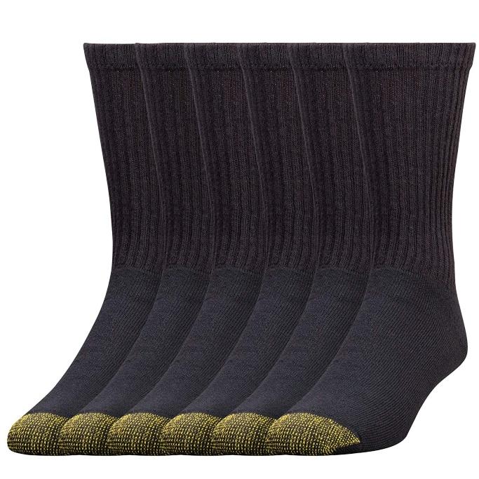 gold toe men's cotton crew athletic sock