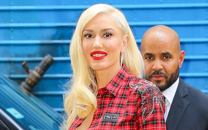 Gwen Stefani, celebrity style, the voice, nyc, Philipp plain outfit