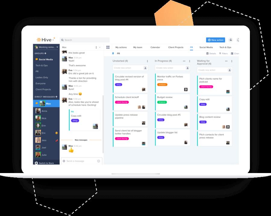 Example Hive platform screen