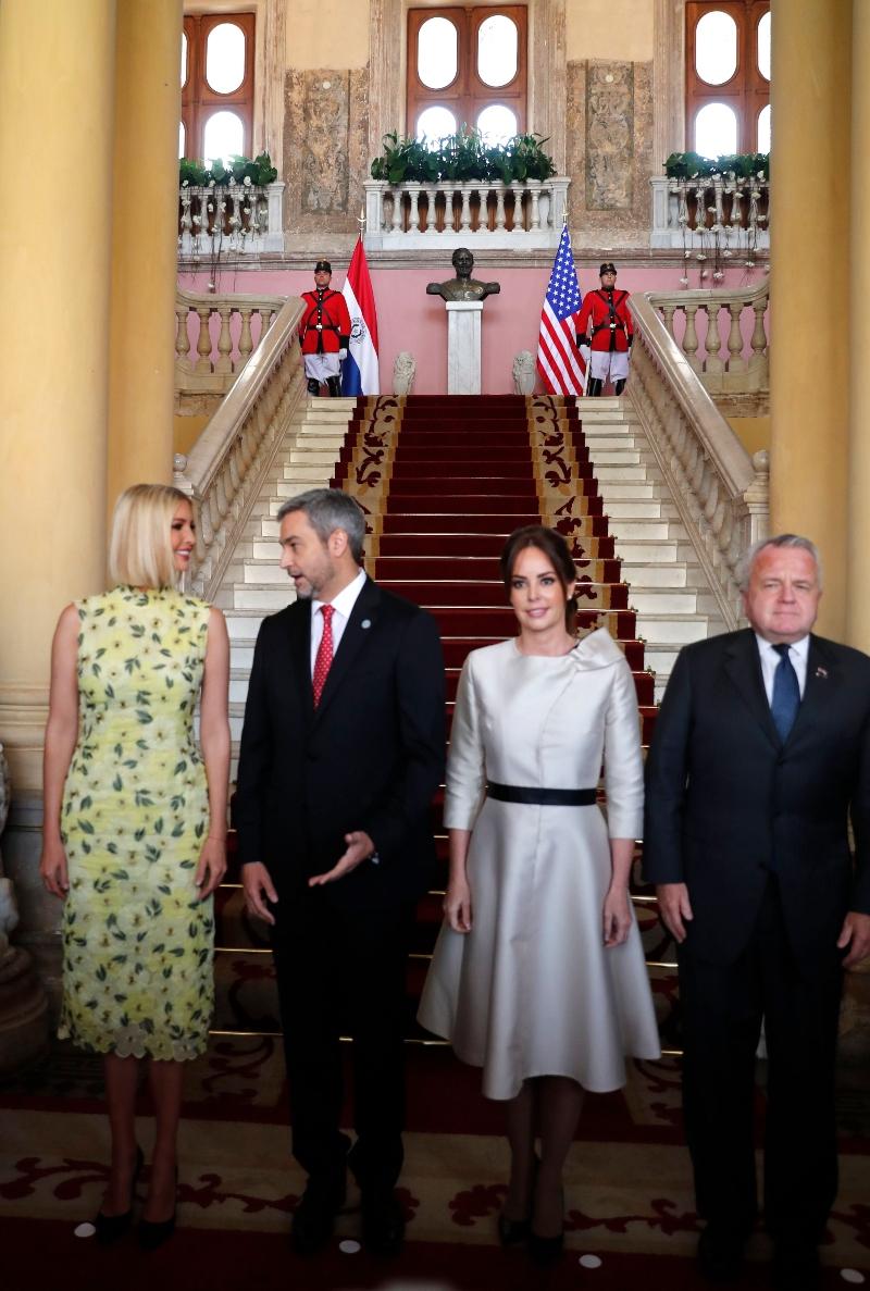 Ivanka Trump, Mario Abdo Benitez, Silvana Lopez Moreira, John J. Sullivan, paraguay