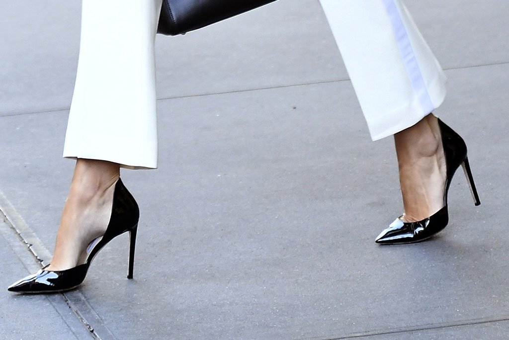 Ivanka Trump, stilettos, black pumps, shoe detail, United Nations, September 2019, un general assembly