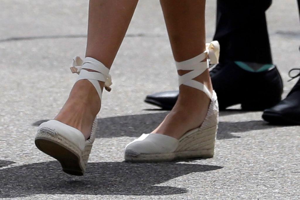 Ivanka Trump, wedges, heels, celebrity style, white shoes, summer style, White House advisor