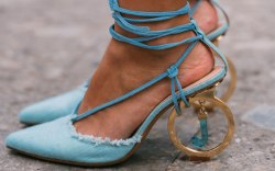 Jacquemus, blue pumps, Milan fashion week,