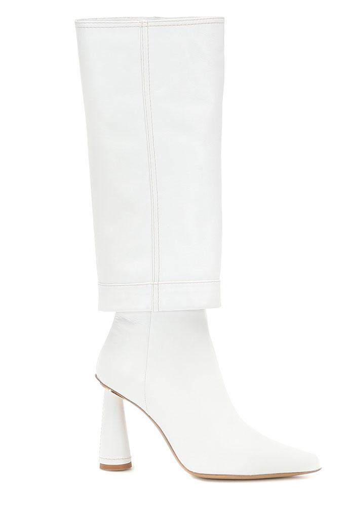 Jacquemus Les Bottes Pantalon, white boots