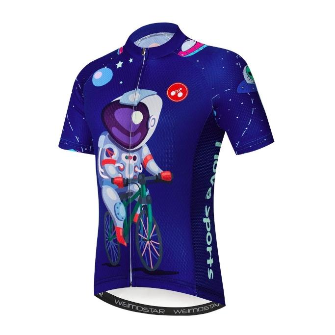 jpojpo cycling jersey, kids cycling shirt, childrens bike shirts, astronaught