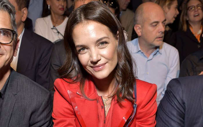 Katie Holmes, fendi, Milan fashion week, runway, spring 2020, celebrity style,