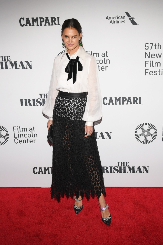 katie holmes, the irishman, new york film festival, marc jacobs, manolo blahnik