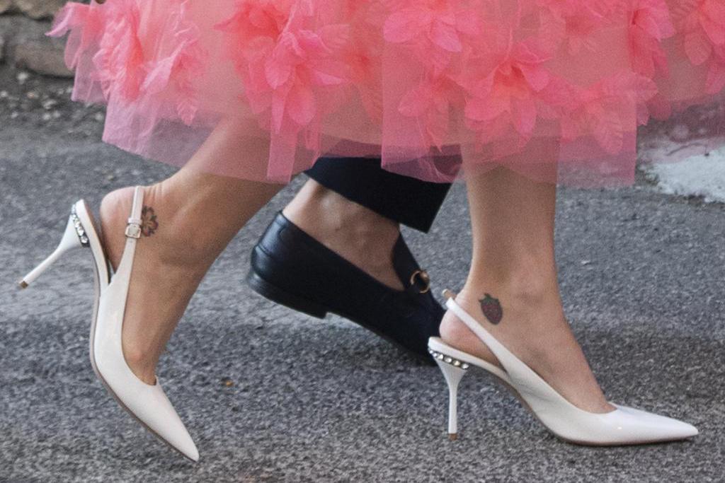katy perry, orlando bloom, misha nonoo, michael hess, wedding, white heels