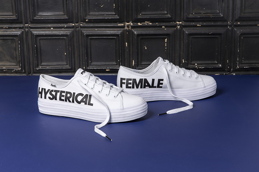 keds, rachel antonoff, vote, hysterical female sneakers, shoes