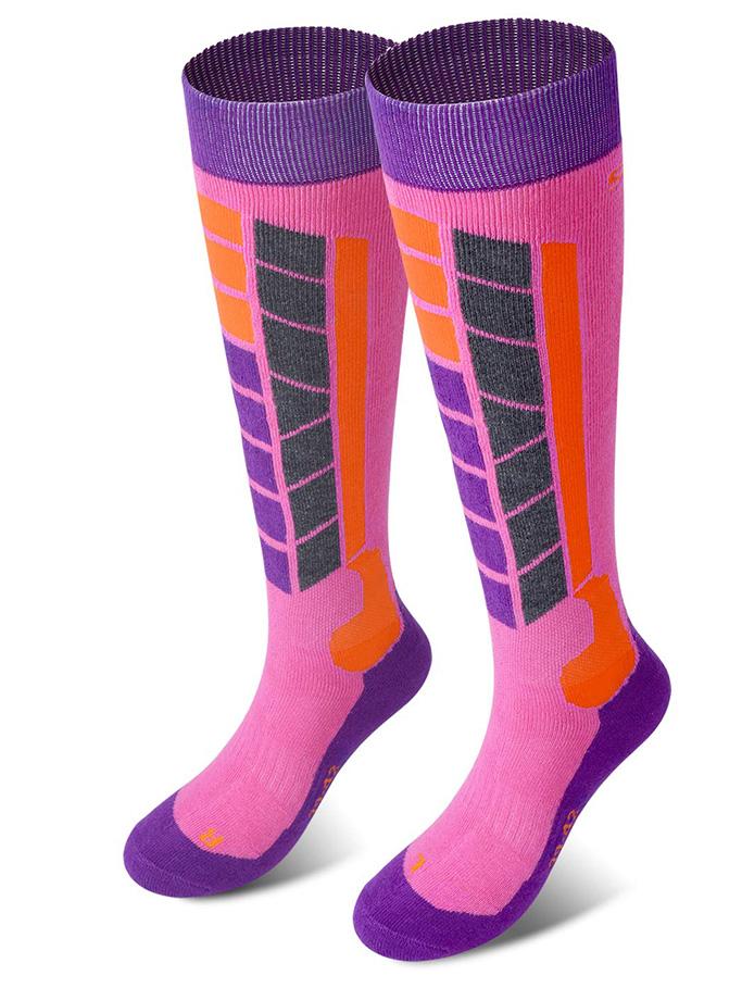 Soared Winter Ski Socks Snowboard, kids, girls, pink, ski socks