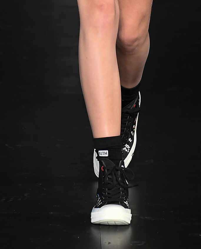 Model on the catwalk, converse chuck taylor shoes, sneakers, Kith show, Runway, Spring Summer 2020, New York Fashion Week, USA - 05 Sep 2019